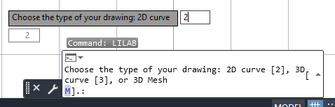 Choose the type of data [point coordinates] to enter 
